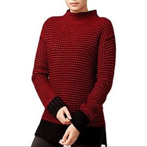 Sanctuary red / black thick knit high neck sweater